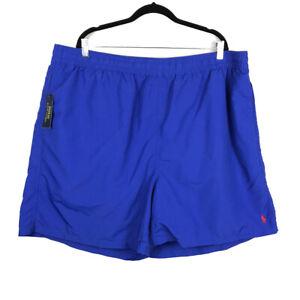 NWT Polo Ralph Lauren Mens 4XB Swim Trunks Blue Red Pony Logo Mesh Lined