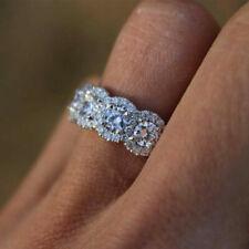 Fashion Women wedding Rings Silver Jewelry White Sapphire CZ Ring Size 5-10 NEW