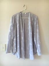 🍁Womens Mela Purdie Feather Mousseline Overshirt Shirt Open Cardigan Size XL L