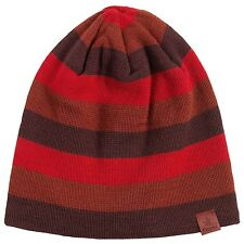 72deeb8a79b Bergans of Norway - O S - Retro Tonal Red Tine Striped Wool Blend Beanie