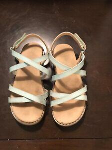 Toddler Girls Size 9 Cat & Jack Teal Strappy Sandals
