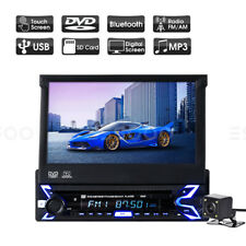 "Autoradio DVD CD Bluetooth Retractable 7"" Écran Tactile USB AUX 1 DIN + Caméra"
