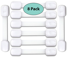 Baby Proofing Cupboard Child Safety Locks, 8 Pack, Toilet & Refrigerator Lock