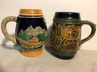GERZ GERZIT Stein/Mug and Another Western Germany Marked Handled Beer Stein Mug