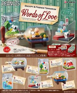 Re-Ment Miniature Peanuts Snoopy Terrarium Words of Love Full set 6 pcs Rement