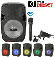 QTX PAL8 Portable KIDS Bluetooth LED USB SD FM KARAOKE PA + Wireless Microphone