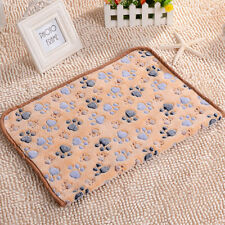 Pet Puppy Dog Warm Mat Paw Print Cat Soft Fleece Blanket Bed Cushion 20x20cm New