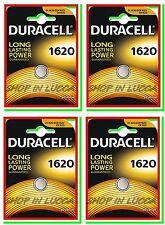 4 Batterie Pile DURACELL CR 1620 CR1620 DL1620 ECR1620 5009LC 280-208 L08 LITIO