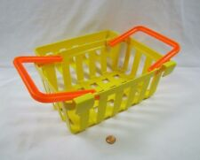Vintage Fisher Price Fun with Food DELUXE GROCERY SHOPPING BASKET Yellow Rare!