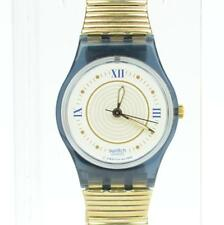 G068 Vintage Swatch Quartz 90s Watch Roman Numeral Ladies Gold Flex SW3.109