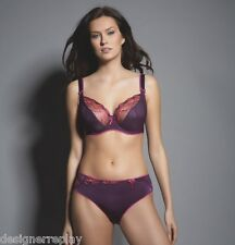 Freya CARMEN Black Currant Purple 4702 UW Balcony Bra 32D & 4706 Short Brief S