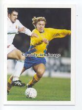 TC0072 - Sweden Striker - Tomas Brolin - postcard Barratt Europes Best