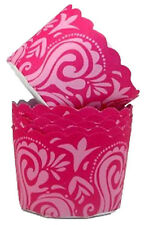 Pink Damask Scallop Baking Cups 15 ct from Wilton 1619