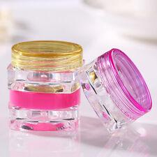 6Pcs Cosmetic Empty Jar Pot Eyeshadow Makeup Tools Cream Lip Balm Container New