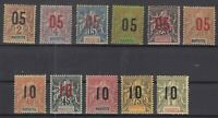 Bi6071/ FRENCH MAYOTTE – Y&T # 21 / 31 COMPLETE MINT MH – CV 40 $