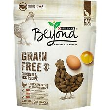 Purina Beyond Grain Free Chicken Egg Recipe Natural Cat Snacks 2.1 Oz Package