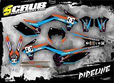 KTM graphics EXC 125 250 300 350 450 500 '14 '15 '16 2014 2015 2016 SCRUB decals