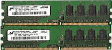 Lot de 2 barrettes 1G DDR2 800 Micron soit 2G PC2 6400 CL6