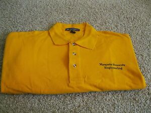 Marquette University Engineering Polo Shirt - Adult 2XL - Gold New