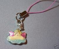 Angel  cell phone or purse charm strap finding chain