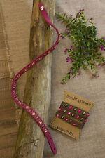 Natural Life Blue/Teal Crystal & Studded Red Leather Choker/Wrap Bracelet