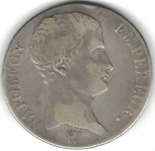 TMM* AN-13 Uncertified Silver 5 Francs of France Naopoleon aVF