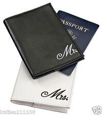 wedding Mr & Mrs black and white passport covers gift set honeymoon present