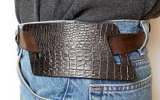 Sendero Tactical Left Hand Mod 1911 Slide Holster Faux Alligator Black Leather