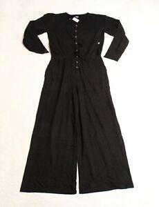 Aerie Women's Long Sleeve Weekend Jumpsuit SV3 Black Medium