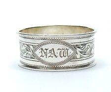 Antique Sheffield 1929 925 Sterling Silver W W Kemp & Son Ltd Napkin Ring 16.6g