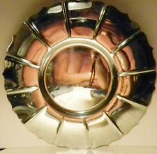 1930's Art Deco Chrome BRUCE HUNT Round Tray~Made in the USA-Antique