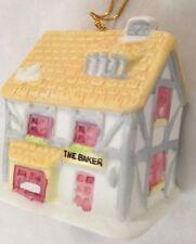 """Ceramic 2.5"""" Gray White Yellow Baker Business House Bell"""