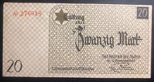Lodz Litzmannstadt Germany Ghetto Currency 20 Pfennings KZ Unc 1940