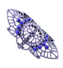 Punk gotico stile tagliato knuckle anello con cristallo e acrilico perlina,