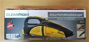 Cleanmaxx Akku-Handstaubsauger 2in1 gelb/schwarz nass und trocken