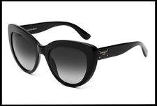 Dolce & Gabbana D&G women Cat Eye Black Sunglasses set grey gradient Lens UV NIB