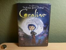 Coraline (DVD, Includes 3-D version) Both 2-D and 3-D New Sealed Henry Selick