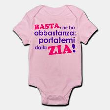 Idea Regalo t-shirteria Body Neonato Divertente Basta ne Ho Abbastanza io vado dalla Zia