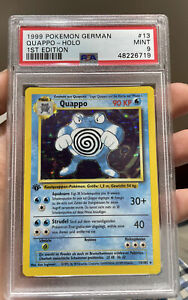 Quappo Holo 1st Edition German Poliwrath Base Set Mint 9 PSA Pokemon #13