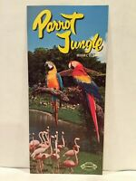1965 PARROT JUNGLE Miami Florida Attractions Association Promo Brochure Card Map