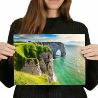 A4 - Aval Cliff Etretat Normandy France Poster 29.7X21cm280gsm #12376