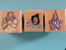 3 Wizard of Oz Scarecrow Tin Man Lion VTG ALL NIGHT MEDIA Rubber Stamps RARE