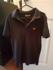 lyle and scott polo shirt small slim fit black used excellent condition