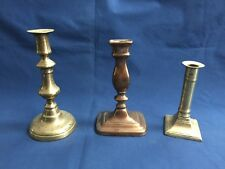 3 Antique Candlestick Holders