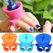 Silicone Flexible Durable Wearable Nail Polish Bottle Holder Finger Varnish Hold