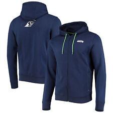 Seattle Seahawks Split Graphic Full Zip Hoodie - Navy - Mens
