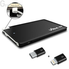 Vida IT 2500mAh vCard Slim Thin Credit Card Power Bank USB  Battery Charger