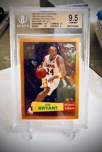 Kobe Bryant Topps Chrome Orange Refractor #/199 BGS 9.5