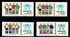 SELLOS DEPORTES FUTBOL. ARGENTINA 1978 1119/22 4v.