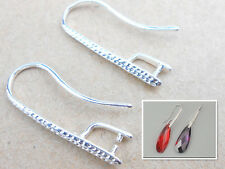 10PCS Beads Jewelry Design Findings Silver Plated Pinch Bail Earring Hooks